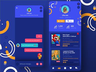 🎮 Gamer Social Profile dailyui gaming gamer android dribbble digital ux webdesign appdesign app ui designer design
