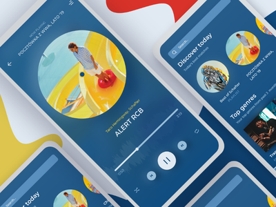 #Classicbluechallenge music streaming app player stream streaming yellow poland ios ui music app blue classicblue classicbluechallenge