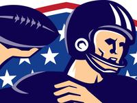 American Football Quarterback Ball Shield