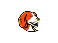 Beagle Head Mascot