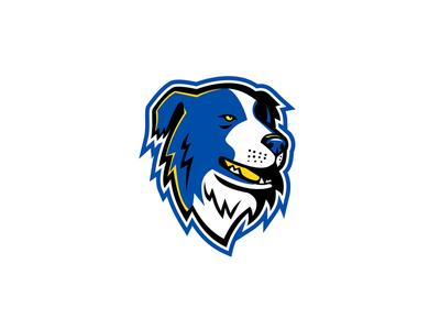 Border Collie Head Mascot