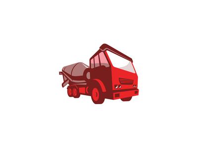 Cement Truck Retro Style