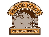 Wood Boar Woodworking Logo Proposal