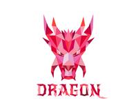 Dragon Head Low Polygon Logo Proposal