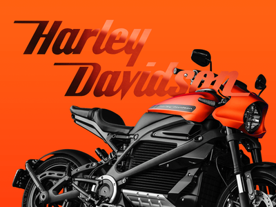 Harley Davidson photoshop artdirection digitalart design branding minimal