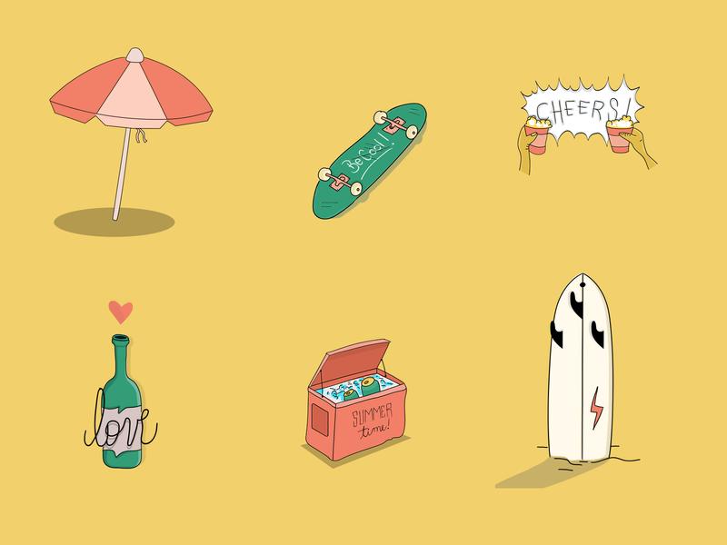 It s Summer Time design illustration