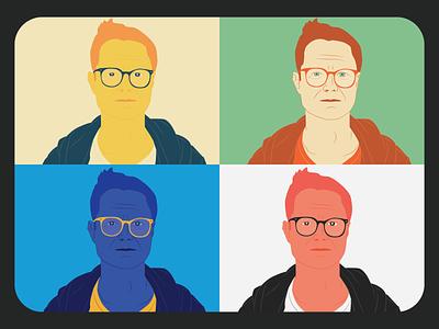 Me, myself and I vector design illustration