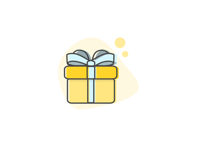 Gift present yellow inkscapedesign lineart inkscape icon flat illustration gift