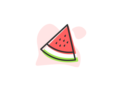 Watermelon outline illustration watermelon icon melon food flat illustration simple illustration fruit illustration fruit icon fresh fruit and vegetable fruit nature natural fruits inkscapedesign flat inkscape icon illustration