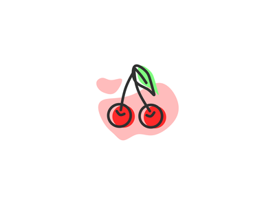 Cherry apple sweet simple simple illustration vector flat illustration fresh nature outline illustration illustration icon inkscape fruit illustration red food fruits fruit cherry fruit cherry