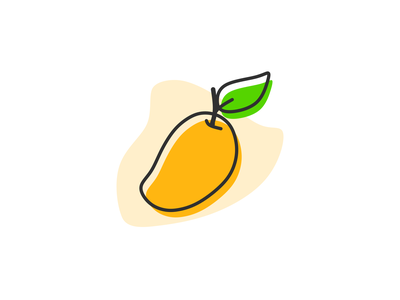 Mango simple flat illustration juice fruits icon vectors outline flat illustration sweet tropical fruit fruit vector vector fruit fruits illustration orange mango vector mango flat illustration mango food fresh fruits flat illustration