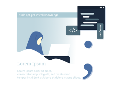 Sudo apt-get install knowledge womenwhocode webdesign ramadhan ubuntu linux girlswhocode programming html css coding code html css illustrations illustrator frontend development frontend design javascript flat illustration inkscape illustration