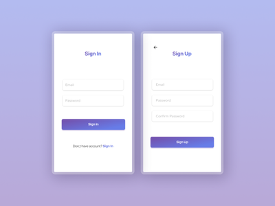 Sign In and Sign Up mobile ui login page signup sign in ui ui ux design form