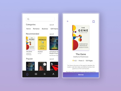 Library App Concept (1) figma bookworm library app library book app book