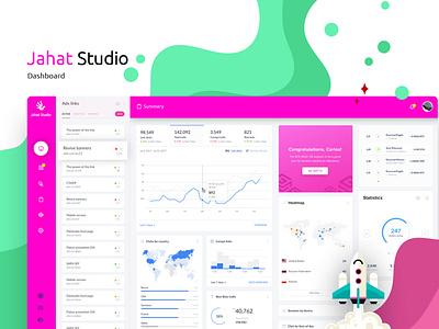 Jahat Admin Panel design studio app vector illustration web flat minimal analytics dashboard prototype design ui ux