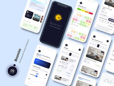 Boomim Tec landing ai travel app illustration design uiux ui productdesign
