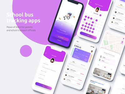 school bus tracking app productdesign landing branding app ux illustration ui design