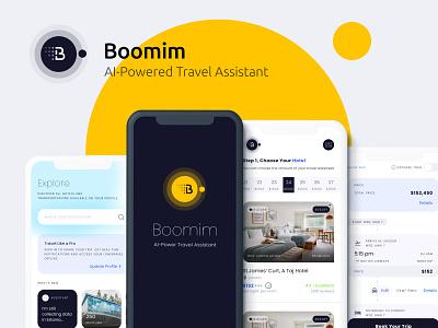 Boomim Tec booking travel productdesign landing branding app ux illustration ui design