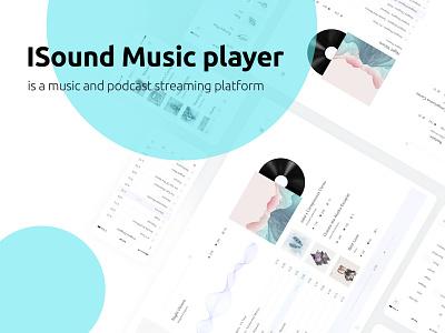 ISound music streaming platform web vector typography productdesign landing branding ux app ui design