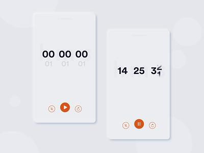 Countdown Timer - Daily UI 014 countdown timer countdown mobile ui minimalism minimal flatdesign dailyuichallenge dribbble design dailyui 014 dailyui 2d