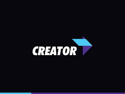 Creator Logo Concept flatdesign branding logo logo designs 2d flat logo logo design creator