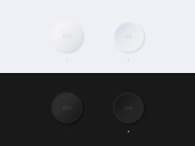 Neomorphism On-Off Switch - Daily UI 015 neumorphism neumorphic softui soft button switch ui 3d switch dailyuichallenge dailyui 015 dailyui vector