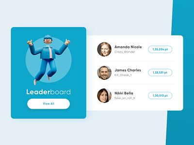 Leaderboard - Daily UI 019 ui daily ui adobe illustrator 3d card adobe xd card layout vector 3d games game leaderboard scores ranks leaderboard dailyuichallenge dailyui019 019 card