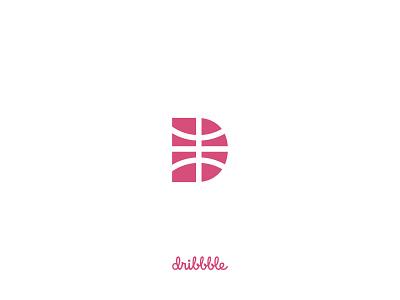 D for Dribbble d letter design dribbble ball ball illustration logo design basketball dribbble logo