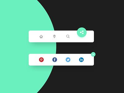 Social Share - Daily UI 010 design dribbble dailyuichallenge dailyui 010 dailyui green share button share social share