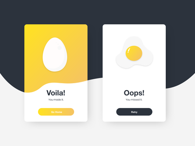 Flash Message (Error/Success) - Daily UI 011 card design eggs egg dailyuichallenge dailyui011 error state success message card success error dailyui