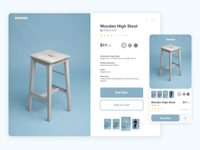 Product Page - Daily UI 012 dailyuichallenge daily ui wooden stool ecommerce page ecommerce design page design product page design product page dailyui dailyui012