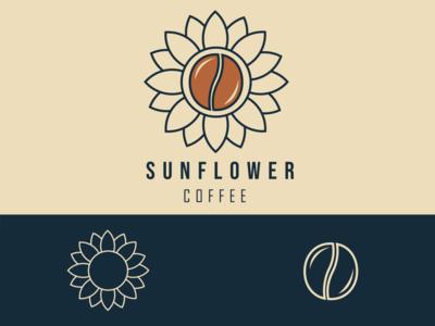Sunflower -Coffee packaging & Branding coffee shop coffee business branding logo illustration vector design