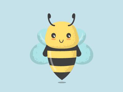 Bee flat design