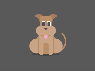 Dog flatdesign
