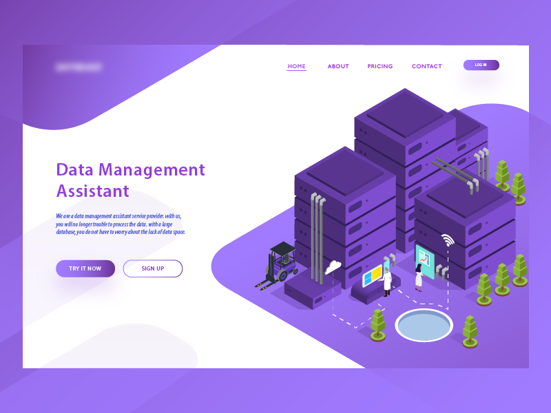 Data Management Asistant Landing Page by Aryo Wicaksono for