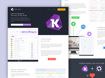 Kolide - Landing Page open-source osquery kolide web ui table security cyber cybersecurity landing dashboard apps
