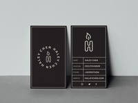 Haley Chen Business Card Design