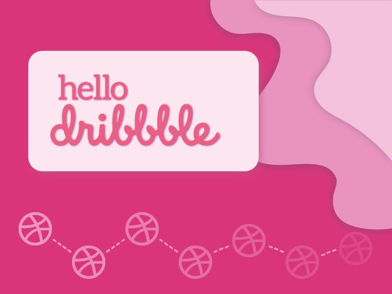 Hello Dribbble branding graphic design illustration canada freelancer vector hello dribbble thankyou invite dribbble first shot