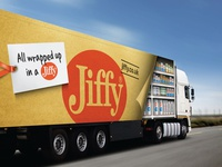 All wrapped up...Jiffy lorry livery!