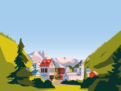 Over the Alps Environment Illustration game art vector illustration graphic design games game design environment design arcade apple