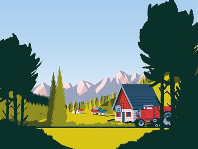 Over the Alps Environment Art game art vector illustration graphic design games game design environment design arcade apple