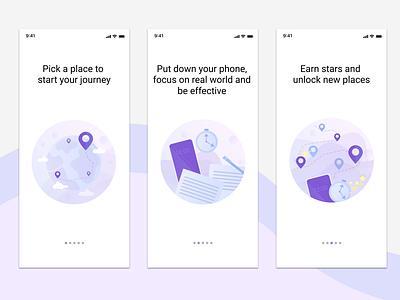 On-boarding Screens ui app illustration
