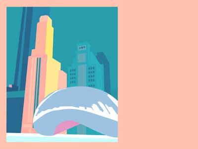 Chicago Cloud Gate Postcard