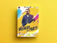 Breakup Vs Party Poster Design