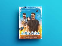 Selfie Stick Poster Design