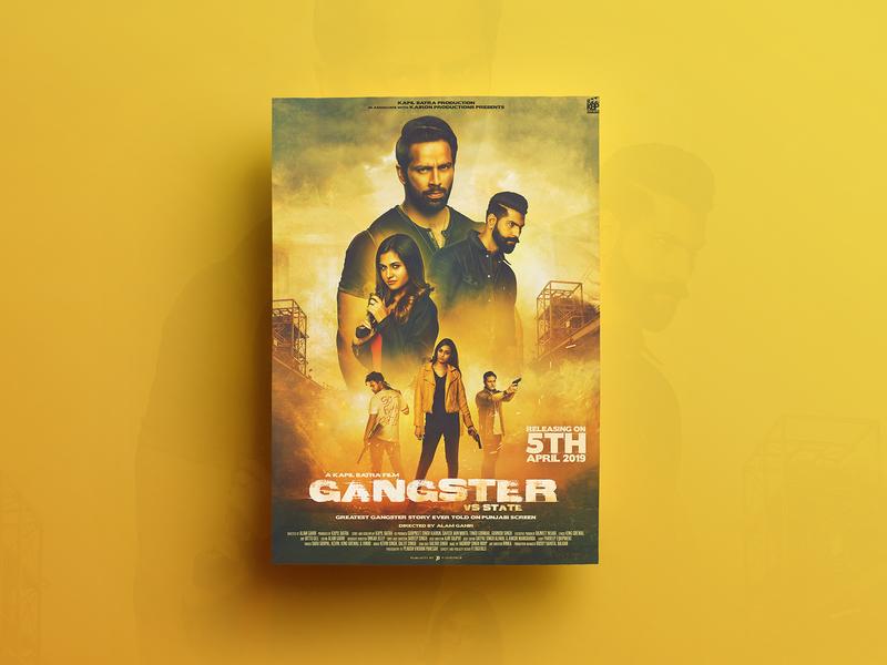 Gangster Poster Design closet designing design song poster digital painting poster design poster graphics editing composting