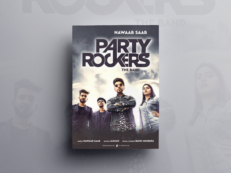 Party Rockers Poster Design digital painting design closet poster design designing song poster graphics editing composting