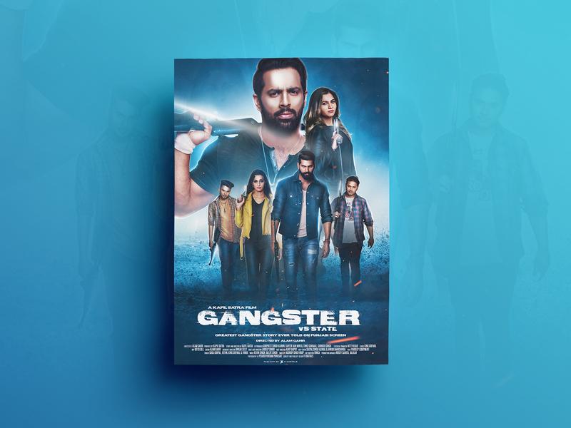 Gangster Poster Design movie poster poster design digitalpainting design closet designing song poster graphics editing composting