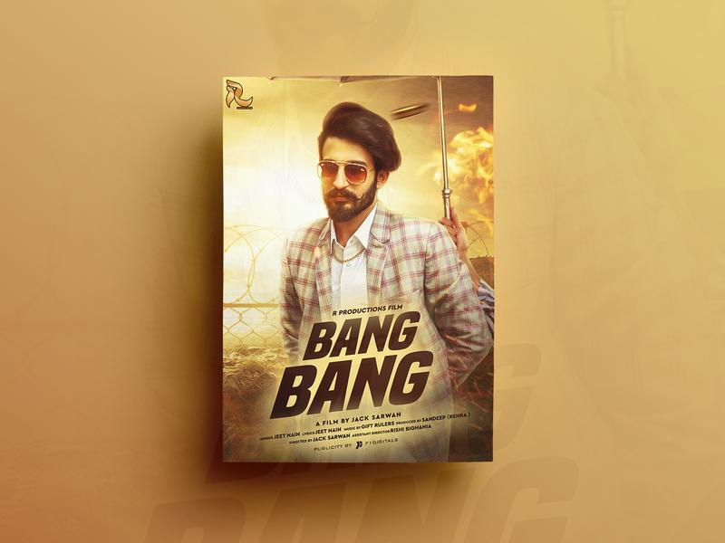 Bang Bang Poster Design closet film poster design digitalpainting song poster designing design graphics editing composting