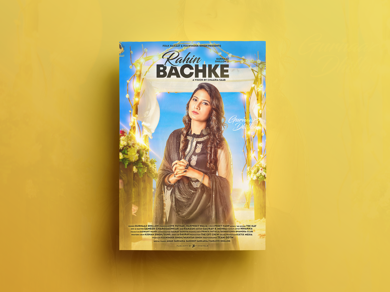Rahin Bachke Poster Design closet poster poster design digital painting song poster design graphics editing composting